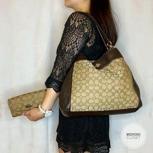 •Coach• Monogram Hobo bag and Wallet